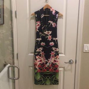 Ted Baker Floral Midi Dress